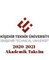 ESTÜ Akademik Takvim 2020